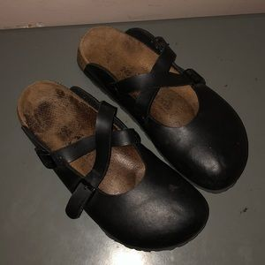 Birkenstock birkis clogs maryjane black shoes 7